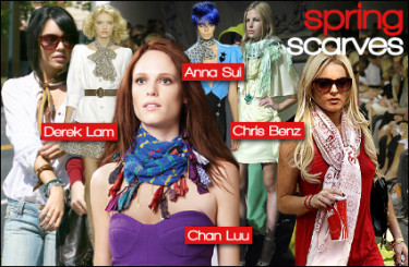 Multi-coloured scarf
