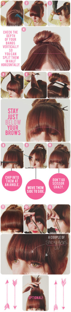 How to Trim bangs at hom easily
