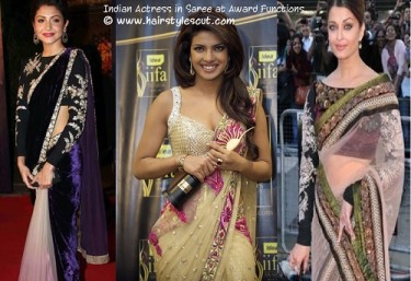 Indian Actress in Saree at various award functions.