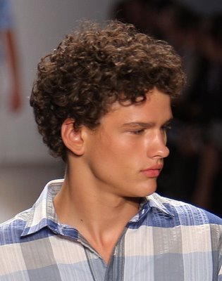 Boy with Curly Hair