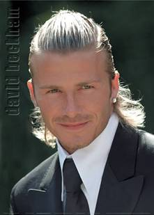 Celebrity David Beckham Long haircuts