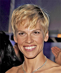 Hilary Swank Page Boy Hairstyle