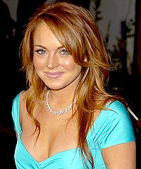 Lindsay Lohan2 - Fresh Blonde Hair with Dark Brown and Red Highlights