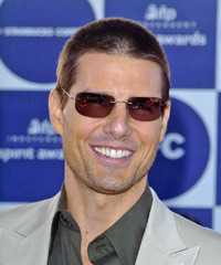 Tom Cruise Back Combed Hairstyle Pull Back Look