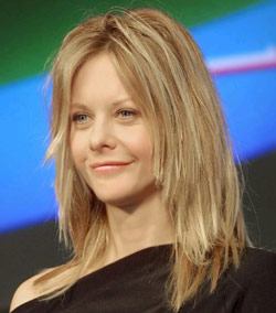 Meg  Ryan Choppy Fall Hairstyle