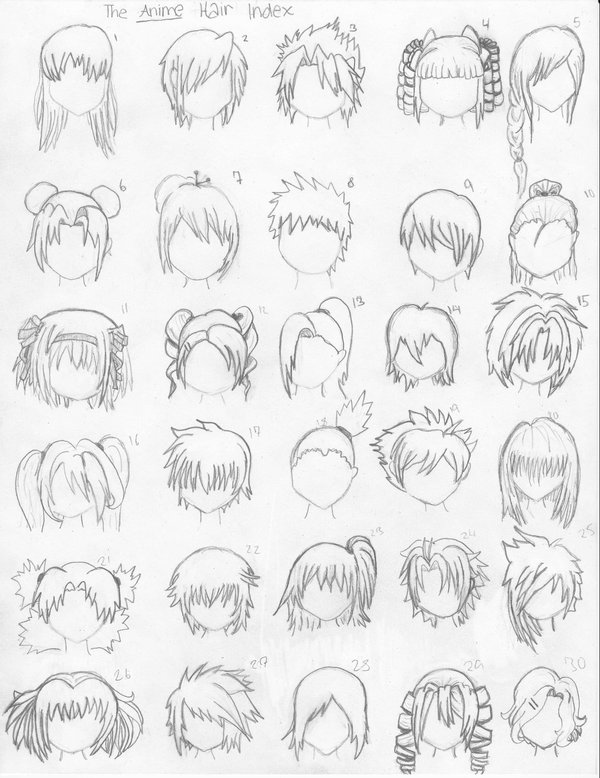 Miraculous How To Draw Anime Hairstyles Hairstylescut Com Hairstyles For Women Draintrainus