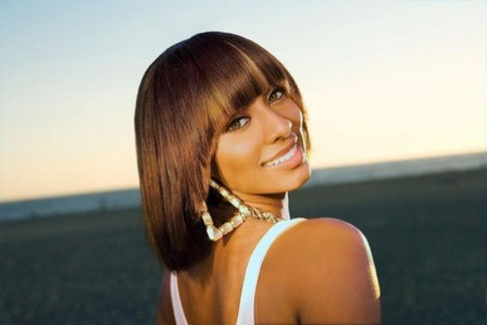 Phenomenal Keri Hilson Honey Blonde Hairstyle With Bang Hairstyle Inspiration Daily Dogsangcom
