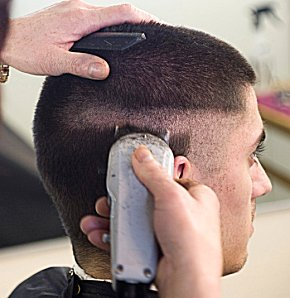 High and Tight Military Cut http://www.hairstylescut.com/articles/military-haircuts.htm