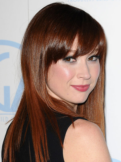Brown Hair Color With Highlights Lowlights also Layered Bob With Bangs ...