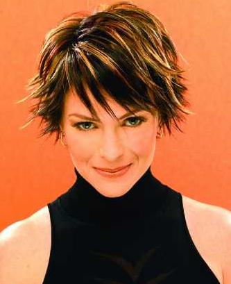 Short Pixie Round face Haircut, Round Wispy Layered, Short Shag