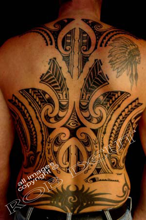Dolphin Polynesian tattoo, polynesian back tattoo