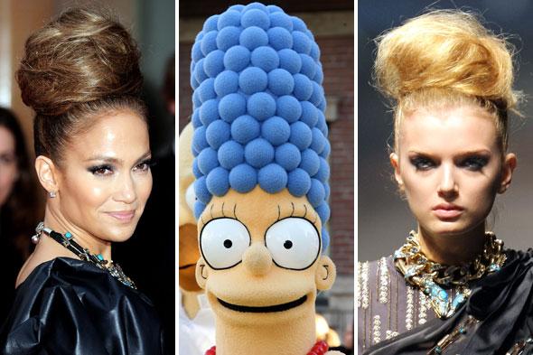 J Lo Hair Styles: Beehive Hairdo Like Marge Simpson?