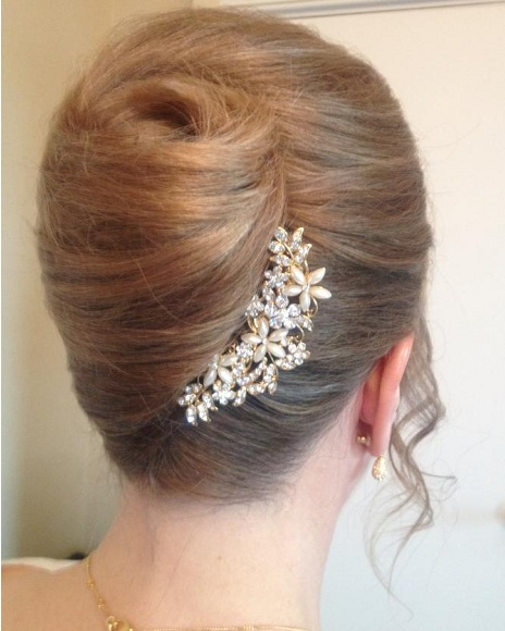 How To Simple Rolled Pleated Updo Hairstylescut