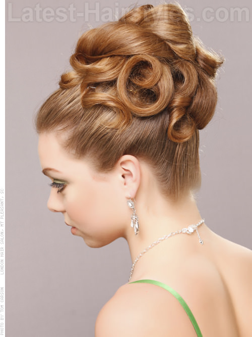 How To Do A Twisted Coiled Updo Hairstylescut